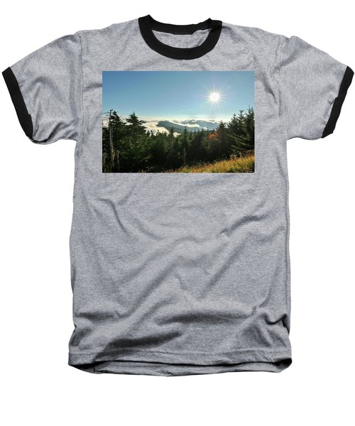 Mt Mitchell Landscape Baseball T-Shirt
