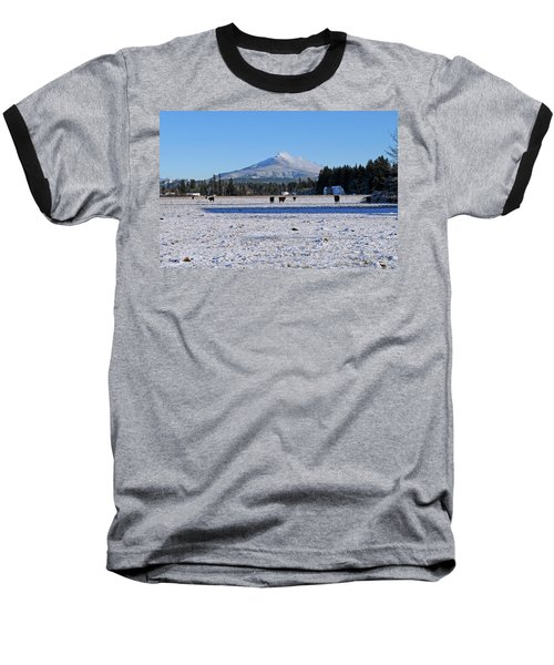 Mt. Pilchuck Baseball T-Shirt by Rebecca Parker