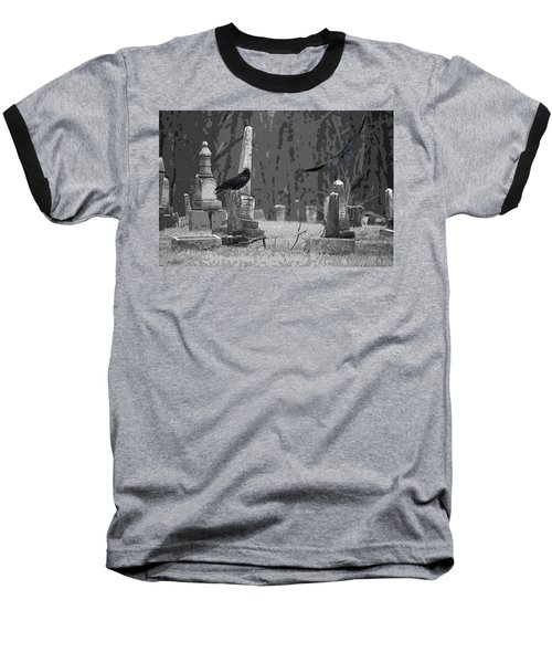 Baseball T-Shirt featuring the photograph Murder Of Crows by Rowana Ray