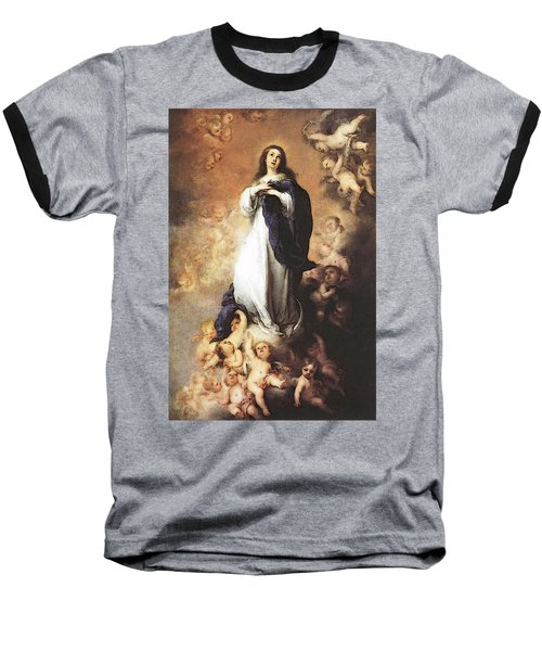 Murillo Immaculate Conception  Baseball T-Shirt by Bartolome Esteban Murillo