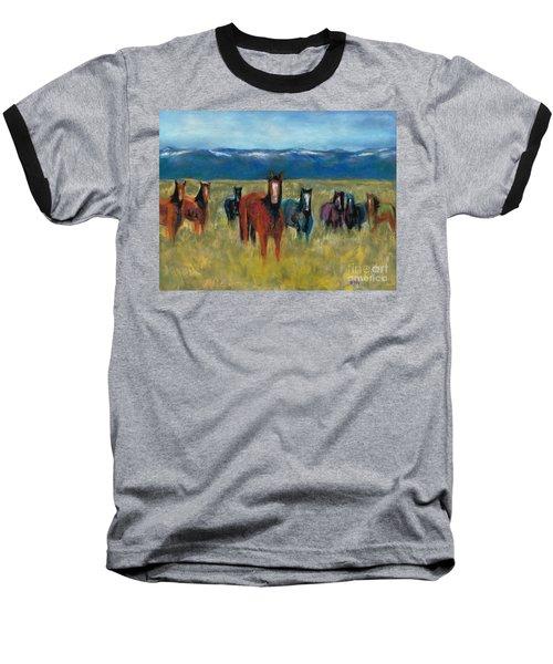 Mustangs In Southern Colorado Baseball T-Shirt