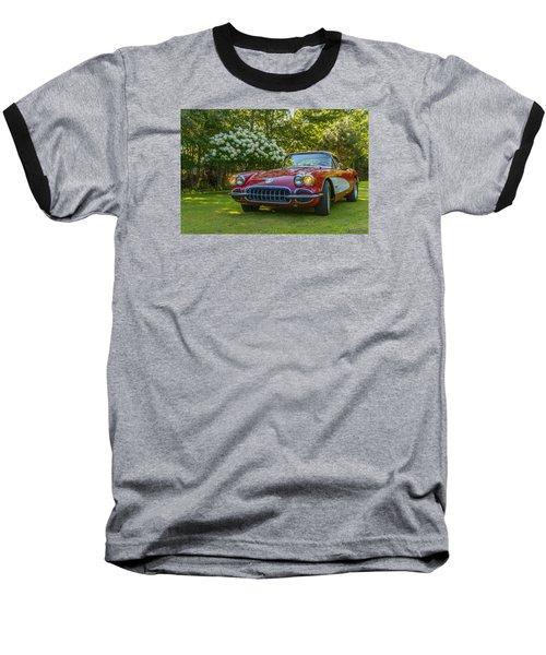 My 1960 Corvette Baseball T-Shirt by Ken Morris