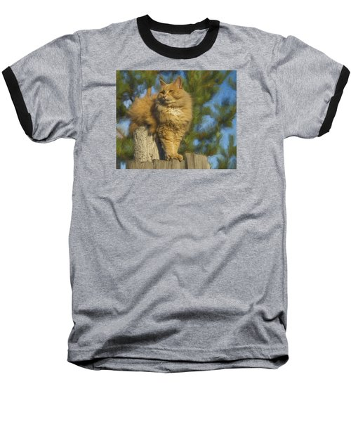 Baseball T-Shirt featuring the photograph My Cat by Vladimir Kholostykh