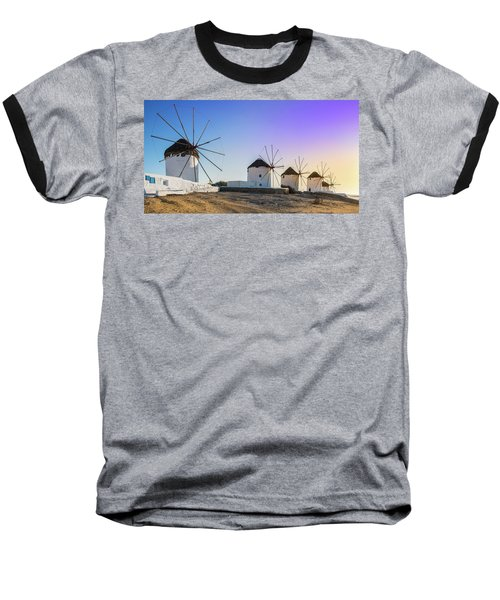 Mykonos, Greece Baseball T-Shirt