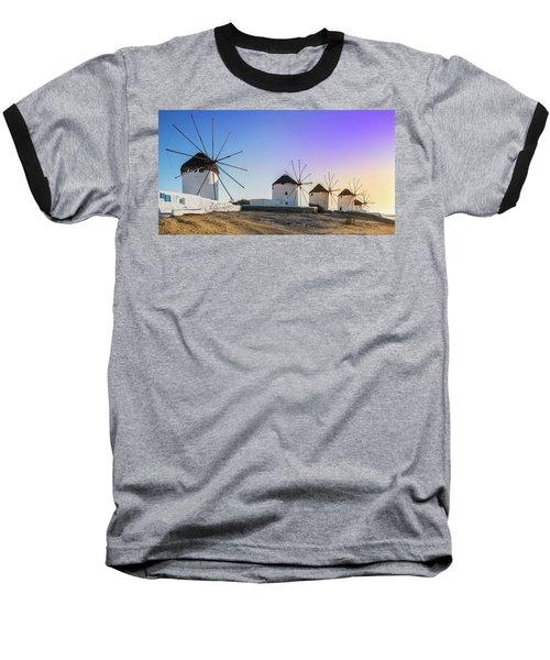 Mykonos, Greece Baseball T-Shirt