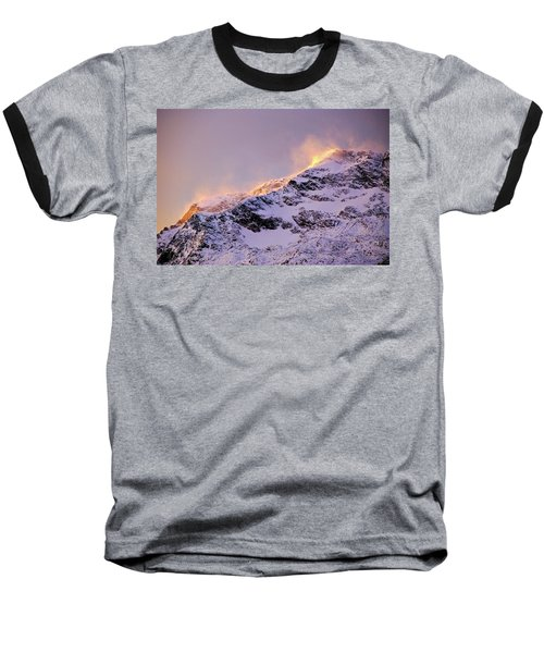mystery mountains in North of Norway Baseball T-Shirt