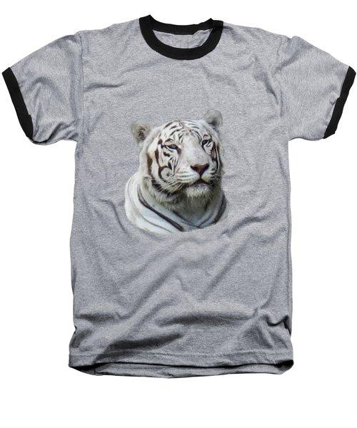 Namaste White Tiger Baseball T-Shirt by Pamela Walton