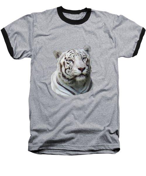 Namaste White Tiger Baseball T-Shirt