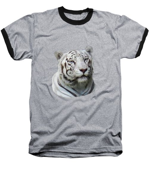 Namaste White Tiger Baseball T-Shirt