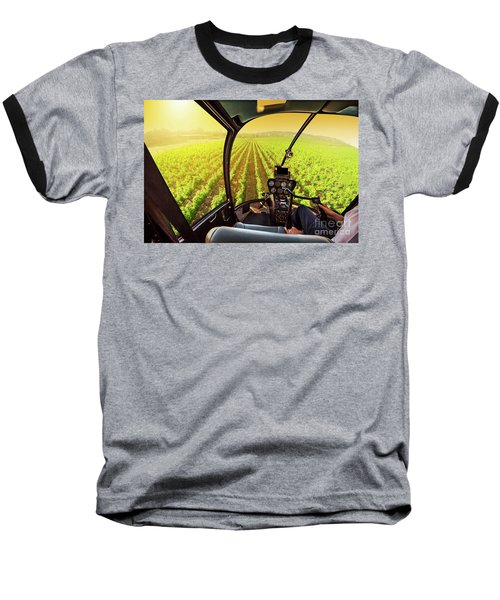 Napa Valley Scenic Flight Baseball T-Shirt
