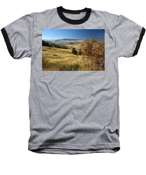 National Bison Range Baseball T-Shirt by Cindy Murphy - NightVisions