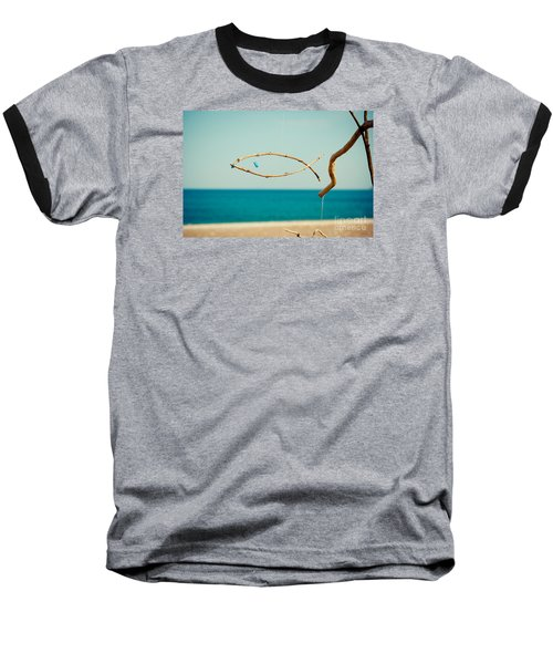 Nature Sculpture At Coast Seascape Artmif.lv Baseball T-Shirt