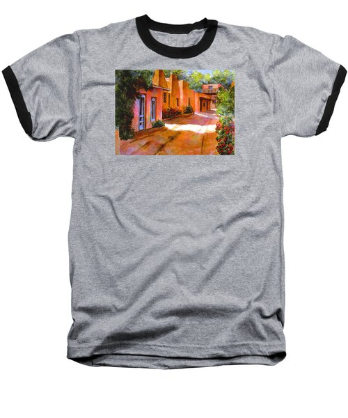 Baseball T-Shirt featuring the painting Near Canyon Road by Ann Peck