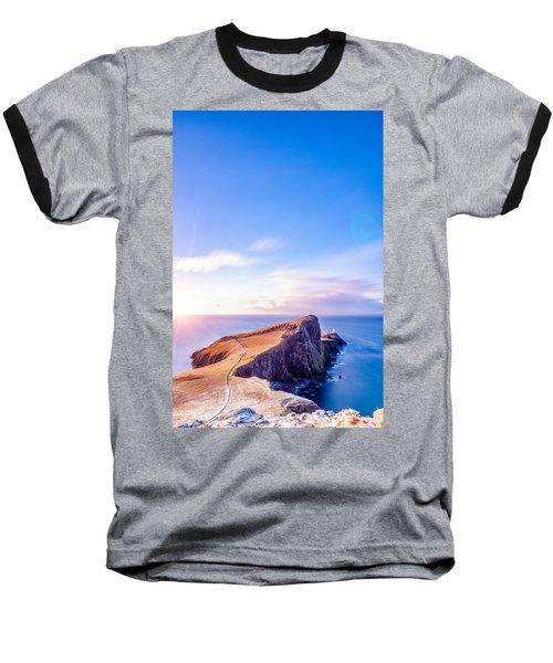 Neist Point Lighthouse At Dawn Baseball T-Shirt