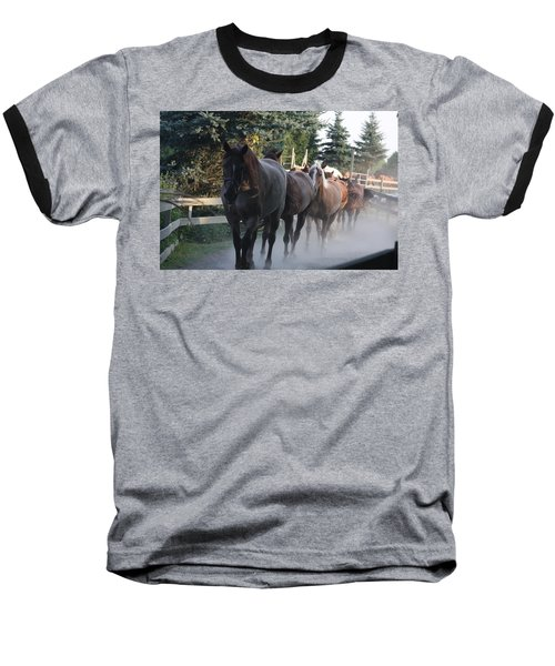 Baseball T-Shirt featuring the photograph New Morning by Vadim Levin