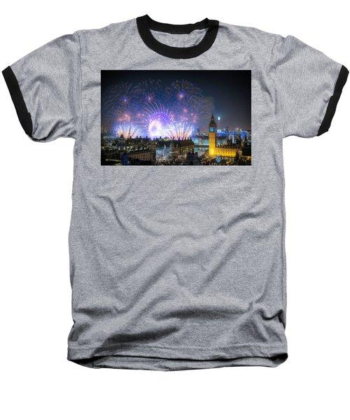 New Year Fireworks Baseball T-Shirt