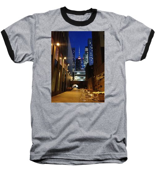Baseball T-Shirt featuring the photograph New York Night by Helen Haw