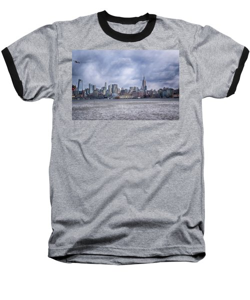 New York Skyline Baseball T-Shirt by Dyle Warren
