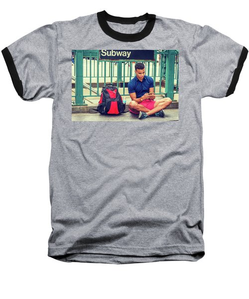 New York Subway Station Baseball T-Shirt