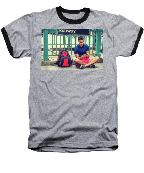 New York Subway Station Baseball T-Shirt