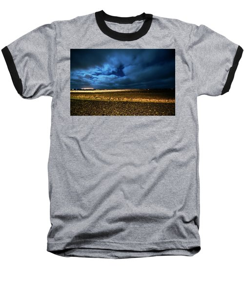Baseball T-Shirt featuring the photograph Icelandic Night  by Dubi Roman