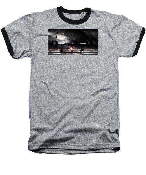 Night Moves Baseball T-Shirt by Peter Chilelli