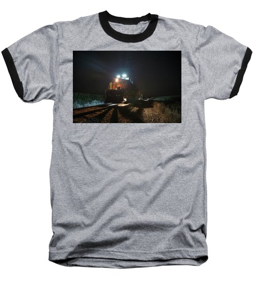 Baseball T-Shirt featuring the photograph Night Train by Aaron J Groen