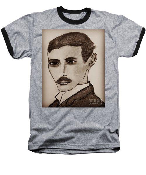 Nikola Tesla, Mad Scientist Baseball T-Shirt