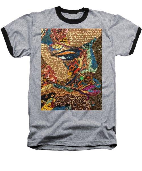 Nina Simone Fragmented- Mississippi Goddamn Baseball T-Shirt