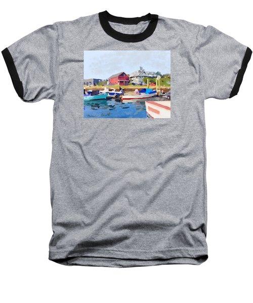 North Shore Art Association At Pirates Lane On Reed's Wharf From Beacon Marine Basin Baseball T-Shirt