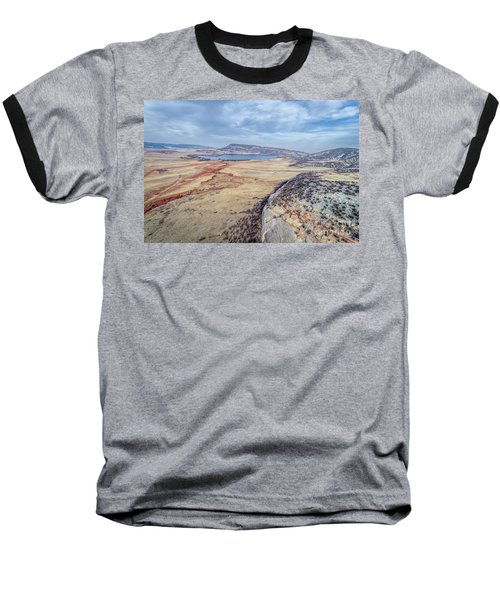 northern Colorado foothills aerial view Baseball T-Shirt