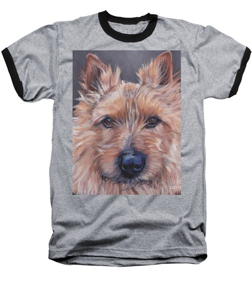 Baseball T-Shirt featuring the painting Norwich Terrier by Lee Ann Shepard