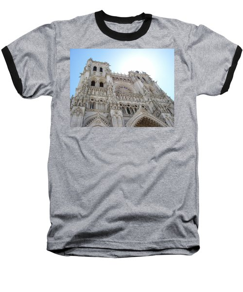 Baseball T-Shirt featuring the photograph Notre-dame D'amiens by Mary Mikawoz