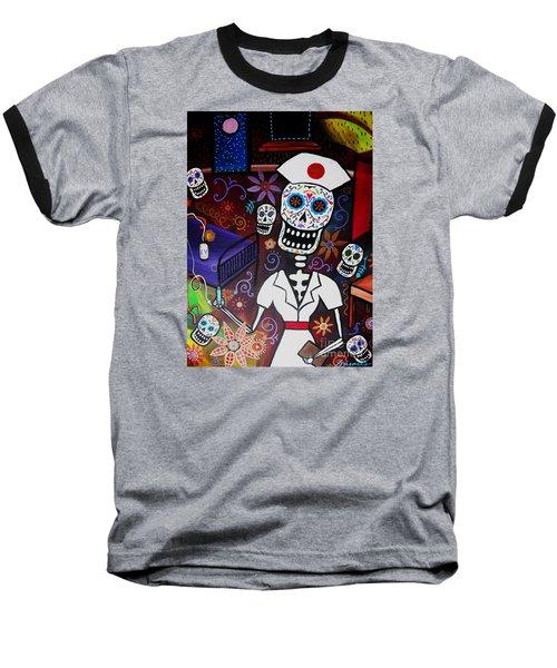 Nurse Dia De Los Muertos  Baseball T-Shirt