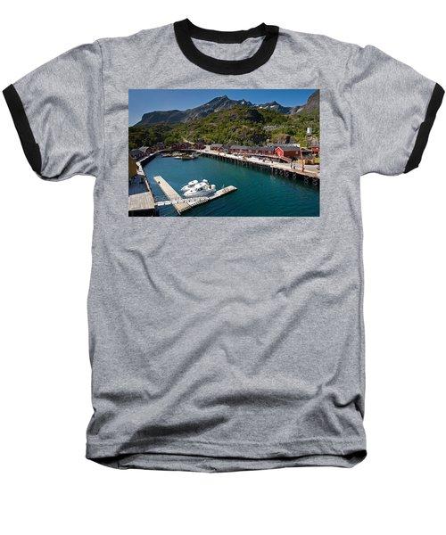 Nusfjord Fishing Village Baseball T-Shirt