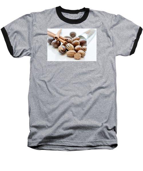 Nutmeg And Macis  Baseball T-Shirt by Sabine Edrissi