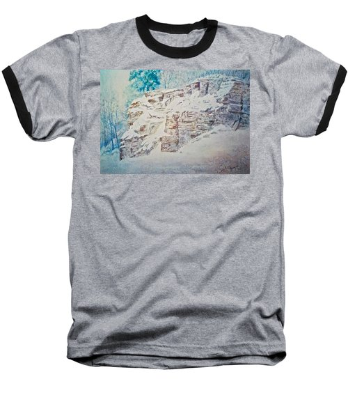 Baseball T-Shirt featuring the painting Oakfield Ridge by Carolyn Rosenberger
