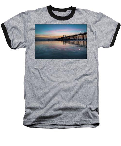 Oceanside Pier Sunset Baseball T-Shirt