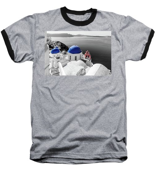 Oia, Santorini - Greece. Baseball T-Shirt