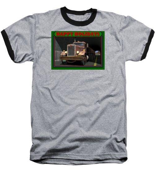 Ol' Pete Happy Holidays Baseball T-Shirt by Stuart Swartz