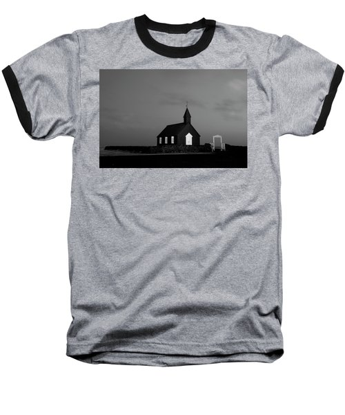 Old Countryside Church In Iceland Baseball T-Shirt by Joe Belanger