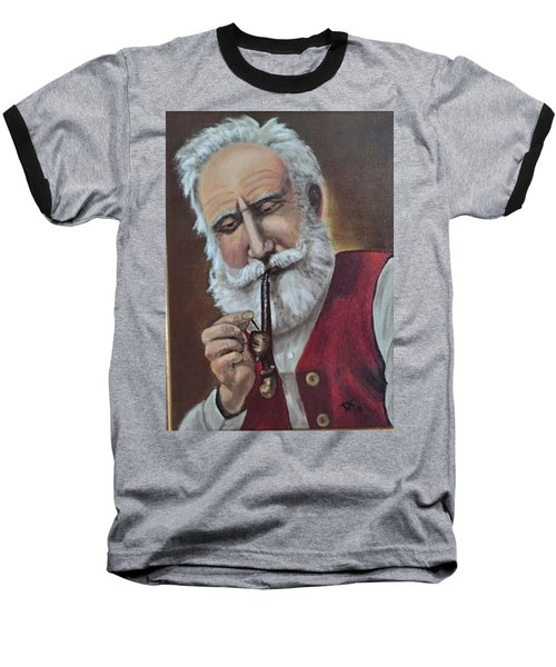 Old German With Pipe Baseball T-Shirt