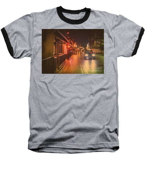 Baseball T-Shirt featuring the photograph Old Kyoto, Gion Japan by Perry Rodriguez