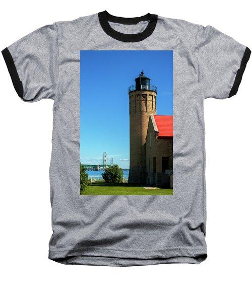 Old Mackinac Point Lighthouse Baseball T-Shirt