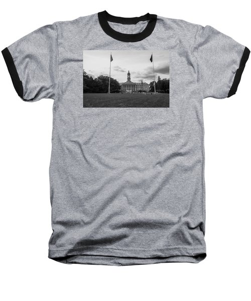 Old Main Penn State Black And White  Baseball T-Shirt
