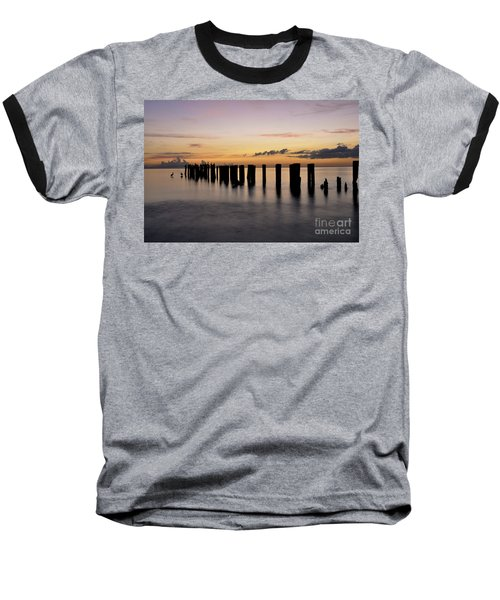 Old Naples Pier Baseball T-Shirt by Kelly Wade