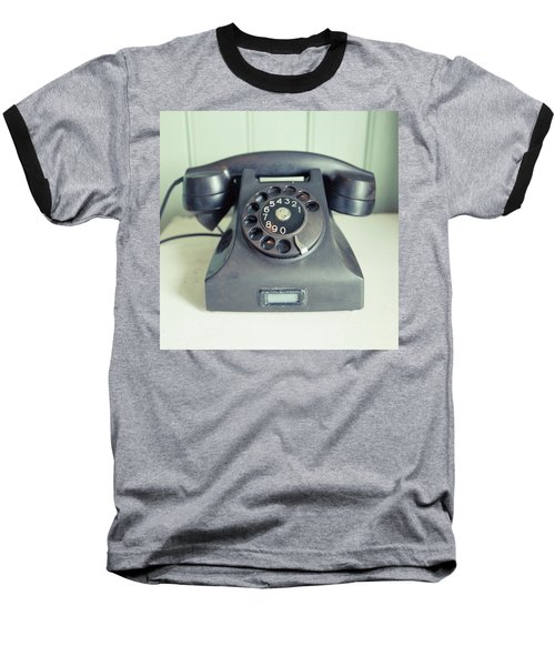 Old Telephone Square Baseball T-Shirt