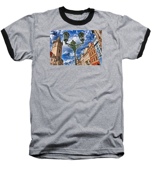 Baseball T-Shirt featuring the photograph Old Town Prague  by Dennis Cox WorldViews