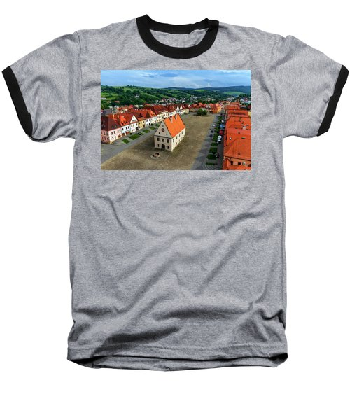 Old Town Square In Bardejov, Slovakia Baseball T-Shirt by Elenarts - Elena Duvernay photo