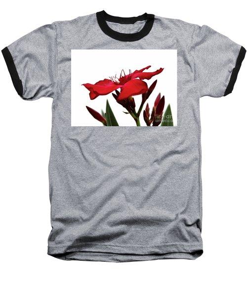 Oleander Blood-red Velvet 3 Baseball T-Shirt